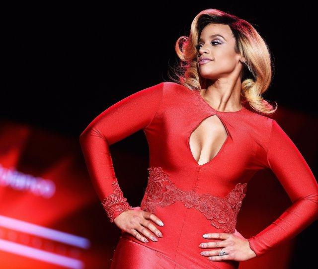 U S Actress Dascha Polanco Walks The Runway During Mercedes Benz Fashion Week Fall 2015 At