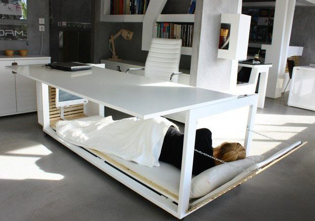 Incredible Bed Desk Hybrid Takes Work Naps To A Whole New Level Huffpost Life