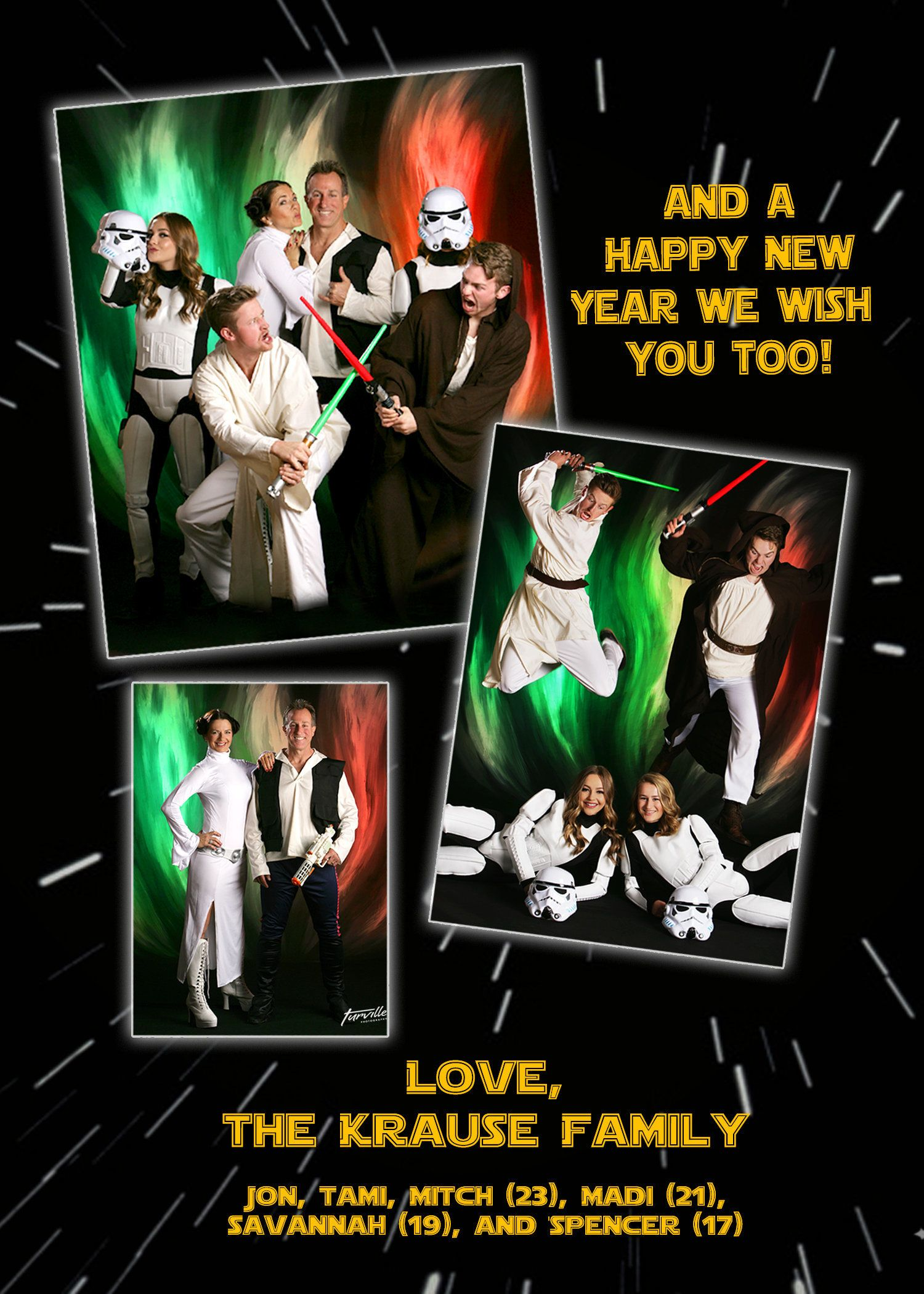 This Familys Star Wars Holiday Card Is A Force To