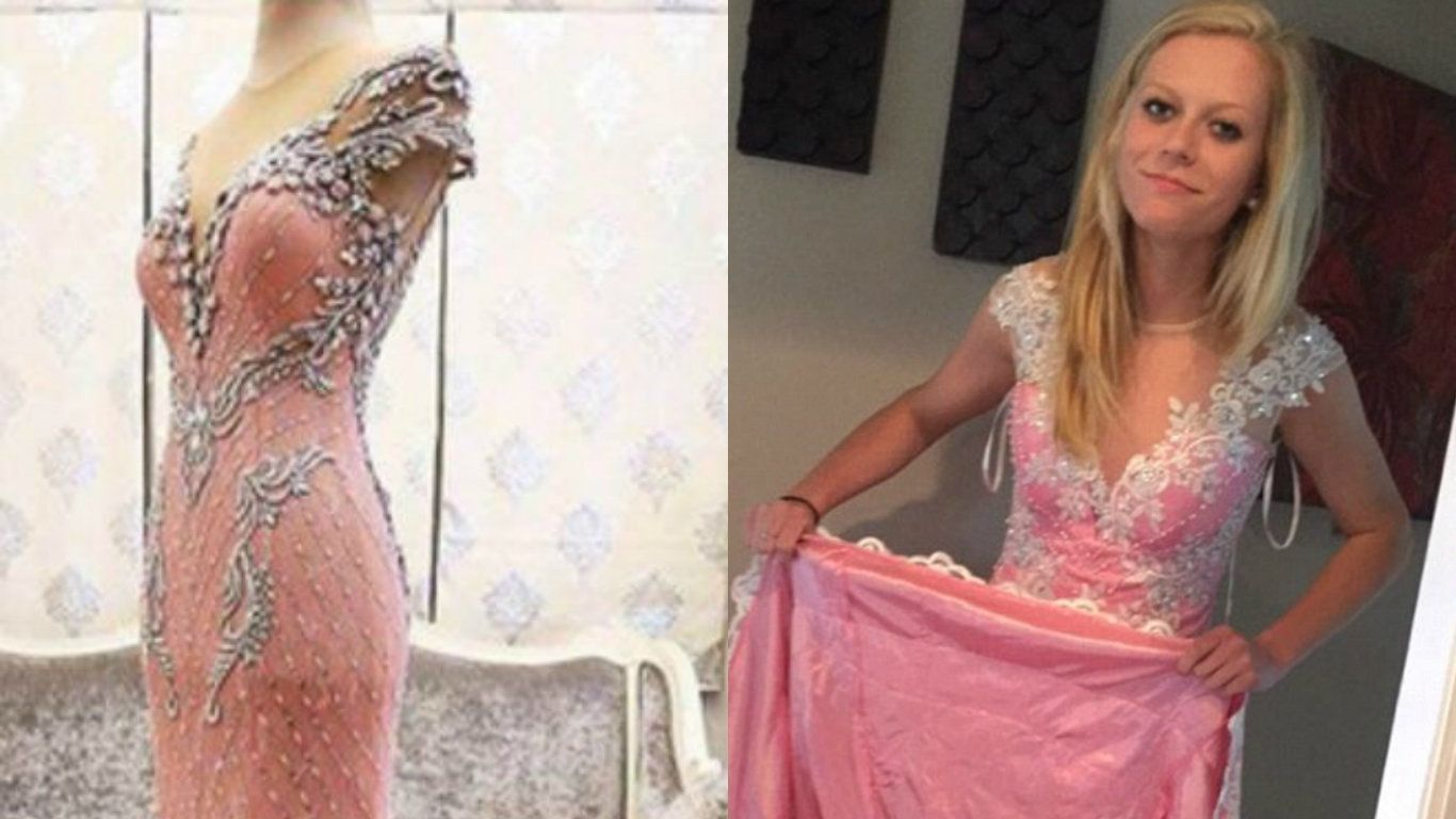 Girl Orders Prom Dress Online Gets Quilt With Arm Holes