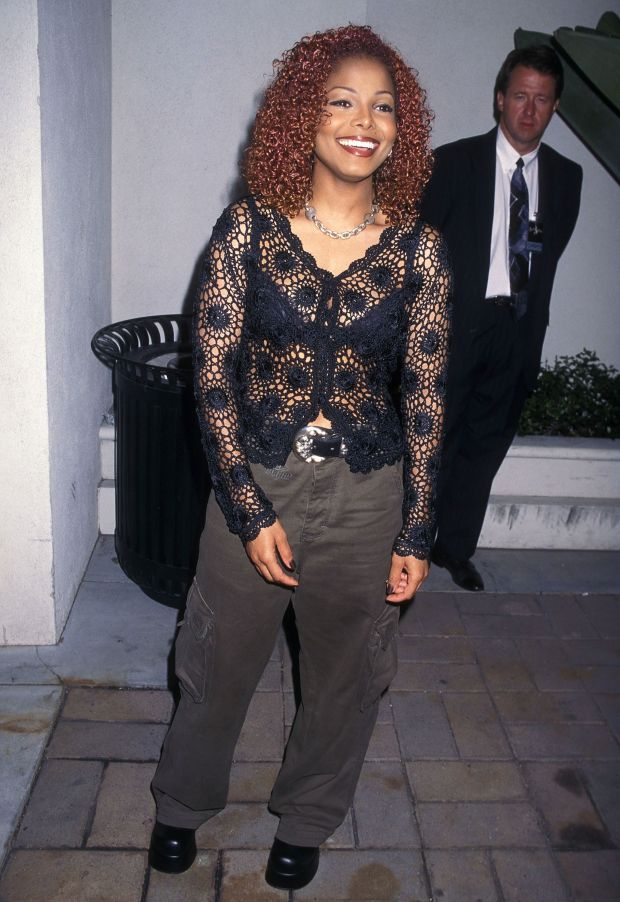 """Janet Jackson attends the Virgin Records Party for """"The Velvet Rope"""" in Culver City, California."""