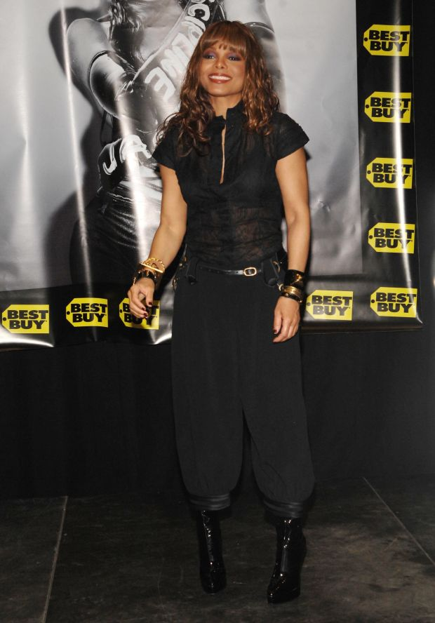 """Ata promotional event for heralbum """"Discipline"""" at Best Buy in New York City."""