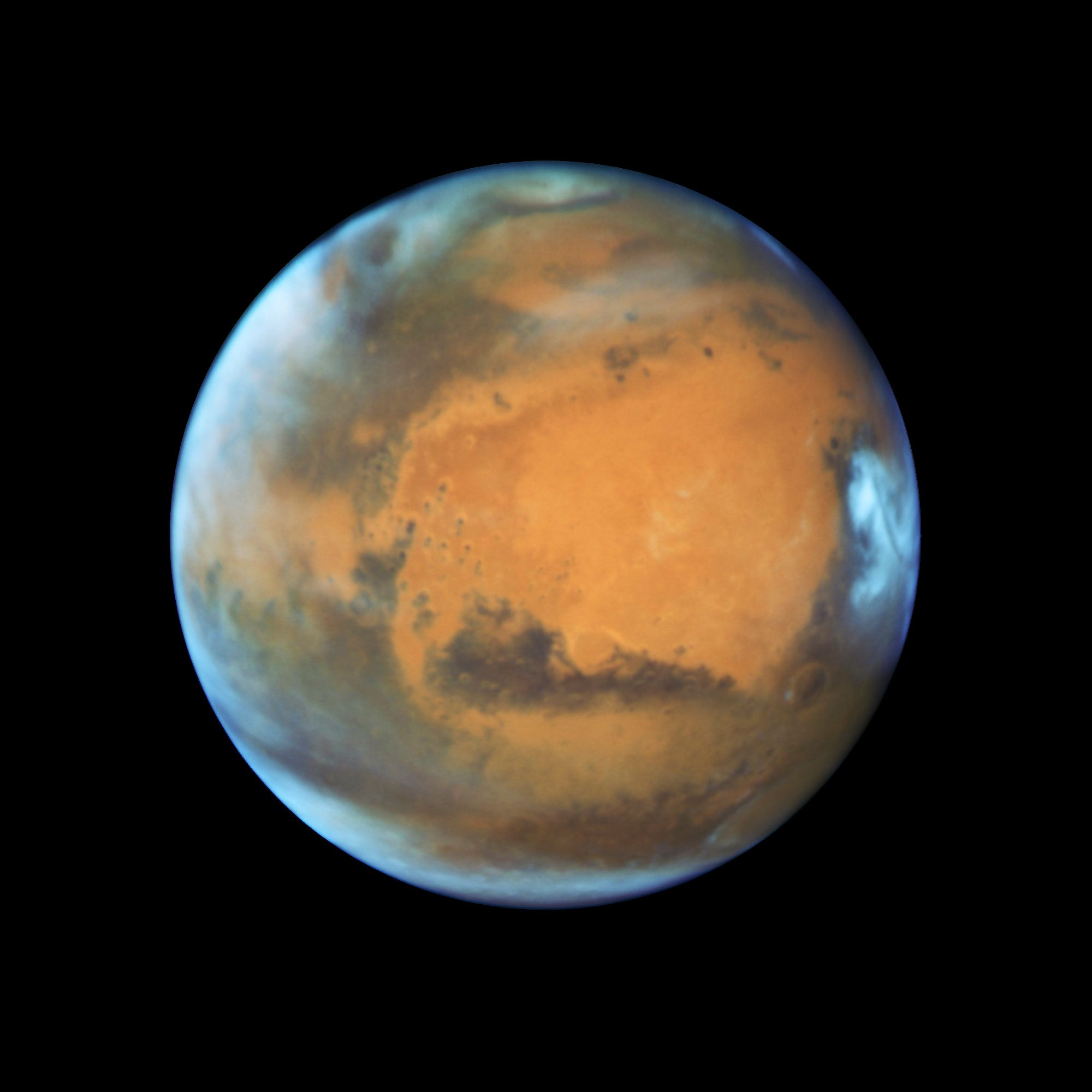 NASA Hubble Telescope Captures Stunning Portrait Of Mars ...