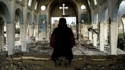 Church in Syria destroyed by anti-regime forces.