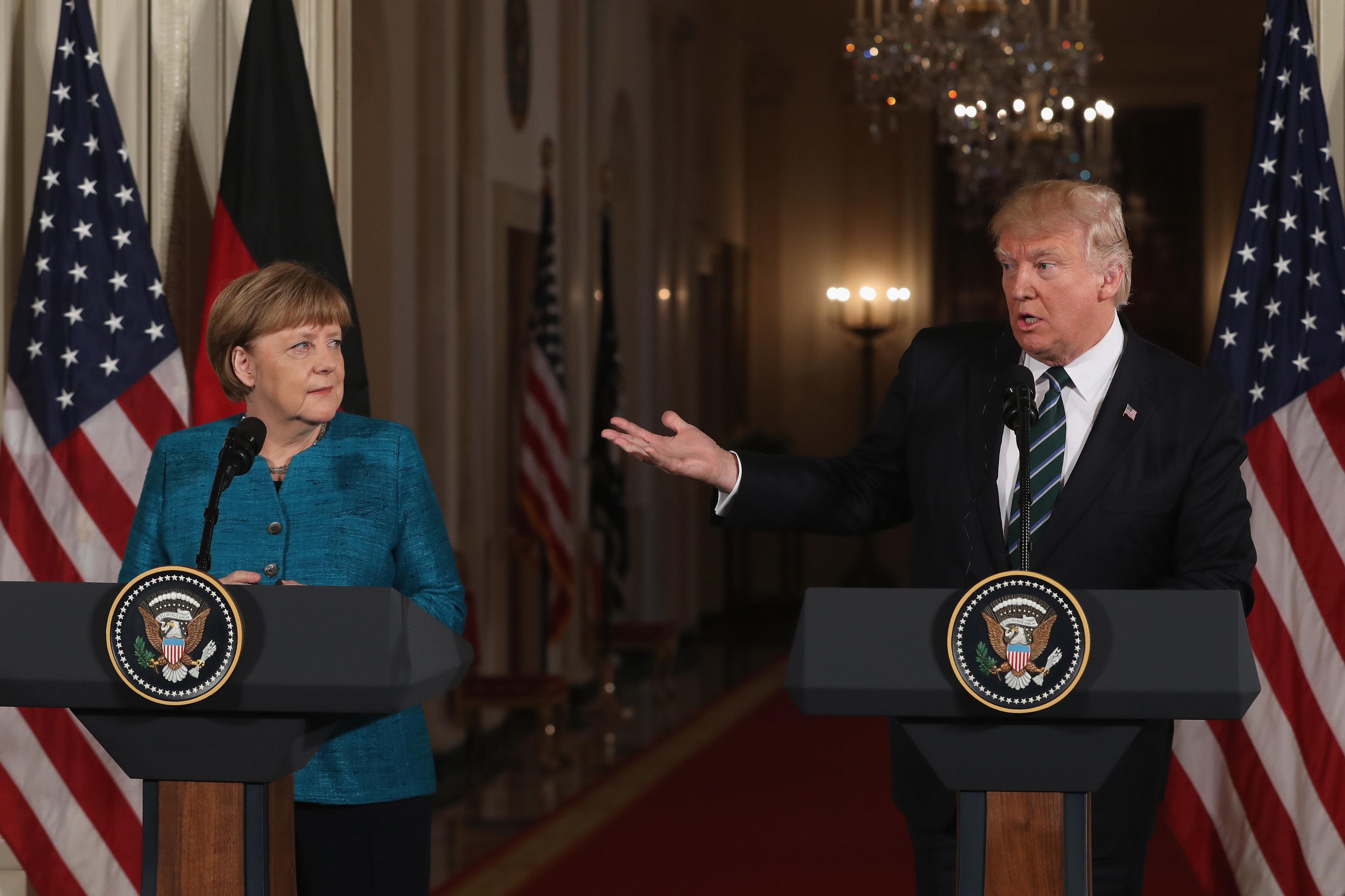 Donald Trump Angela Merkel Press Conference Results In ...