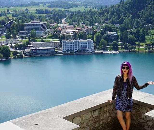 Travel Writer La Carmina At Lake Bled Slovenia