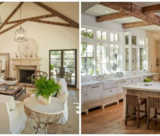 Above Two French Farmhouse Inspired Spaces In A Custom Home By