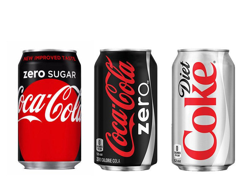 Here's The Difference Between Diet Coke, Coke Zero And Coke Zero ...