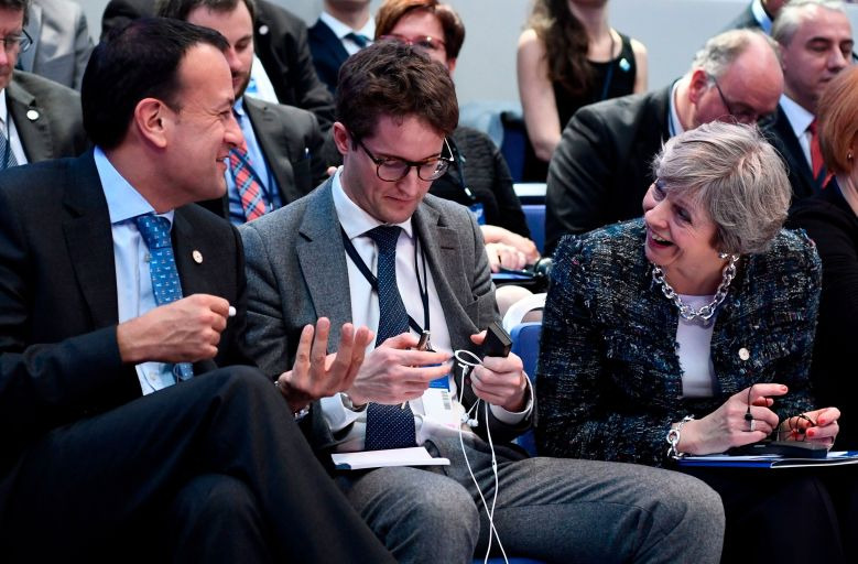 Leo Varadkar (left) and Theresa May (right) during the Gothernburg summit