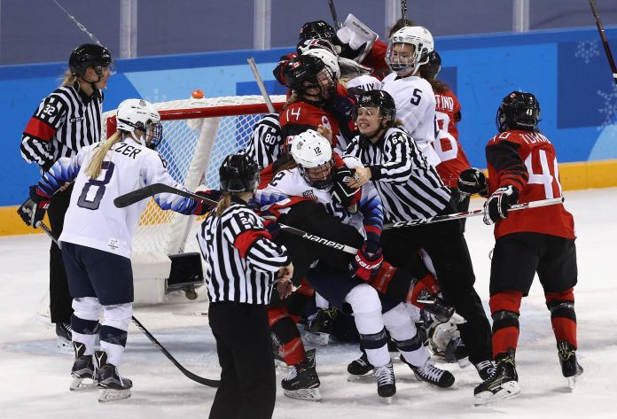 U.S. And Canada Fight To Finish And Beyond In Winter Olympics Hockey U.S. And Canada Fight To Finish And Beyond In Winter Olympics Hockey 5a8588172000003900eaef49
