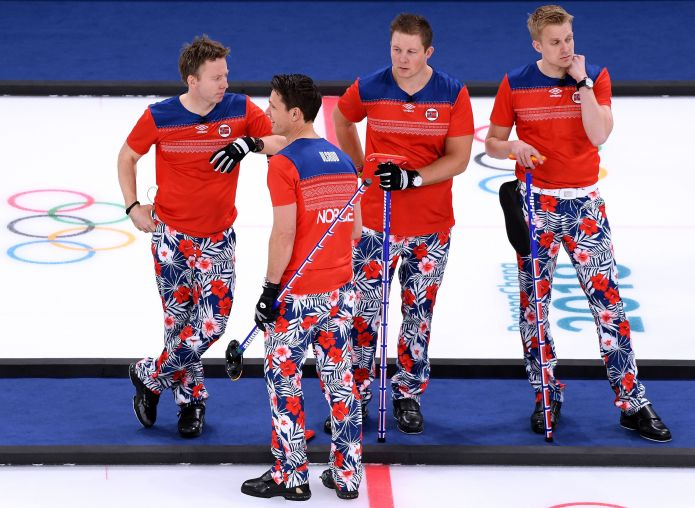 The Norwegian Curling Team Should Win Gold For Their Pants The Norwegian Curling Team Should Win Gold For Their Pants 5a86f29f210000c3006016e3