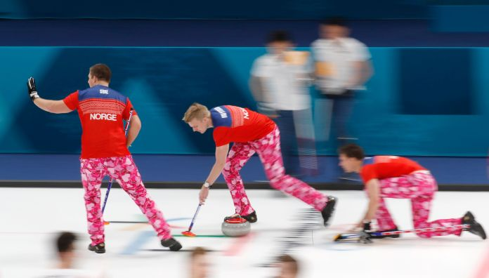 The Norwegian Curling Team Should Win Gold For Their Pants The Norwegian Curling Team Should Win Gold For Their Pants 5a86f2df21000039006016e4