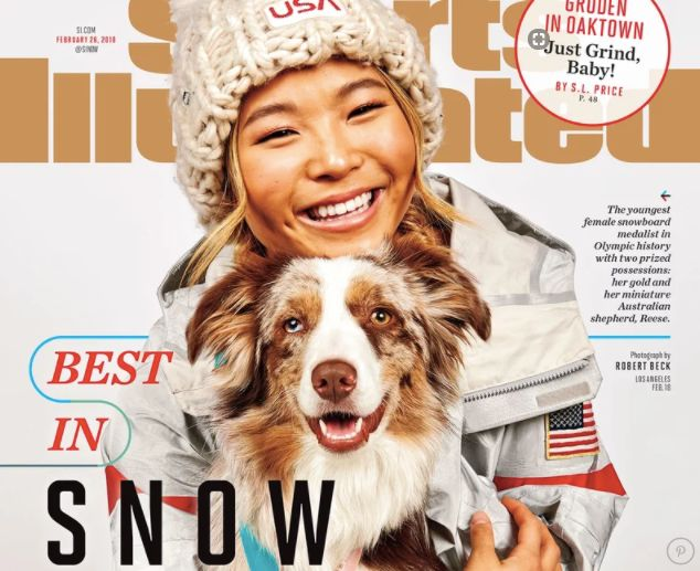Chloe Kim Poses With Her Adorable Dog On The Cover Of Sports Illustrated Chloe Kim Poses With Her Adorable Dog On The Cover Of Sports Illustrated 5a8e33ed2000003800eaf998