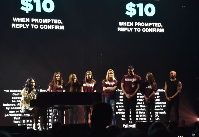 Demi Lovato Brings Florida Shooting Survivors On Stage During Tour Demi Lovato Brings Florida Shooting Survivors On Stage During Tour 5a95b1191e0000fb077acf95
