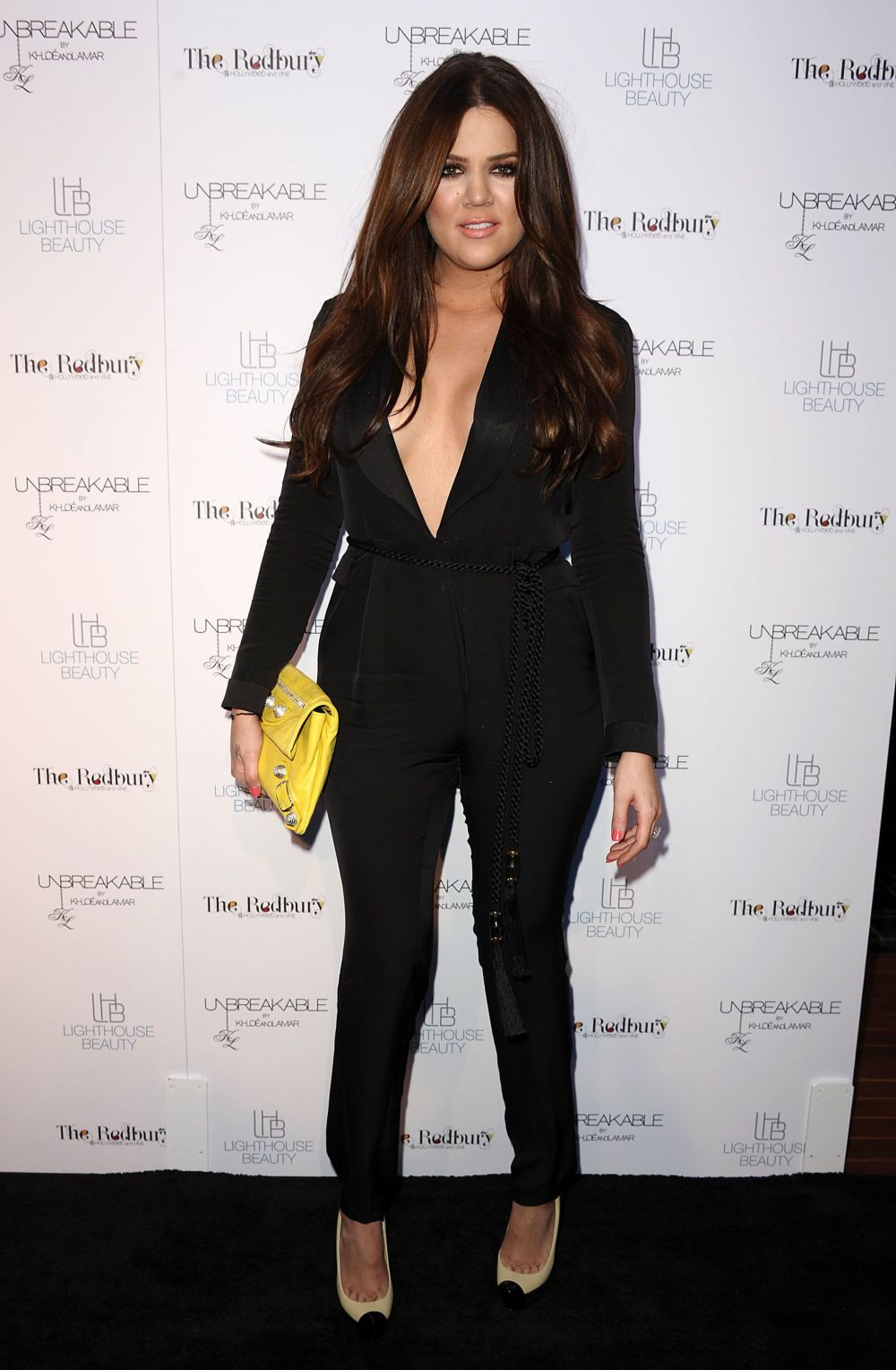At the launch for Unbreakable by Khloe and Lamar fragrance in Hollywood.