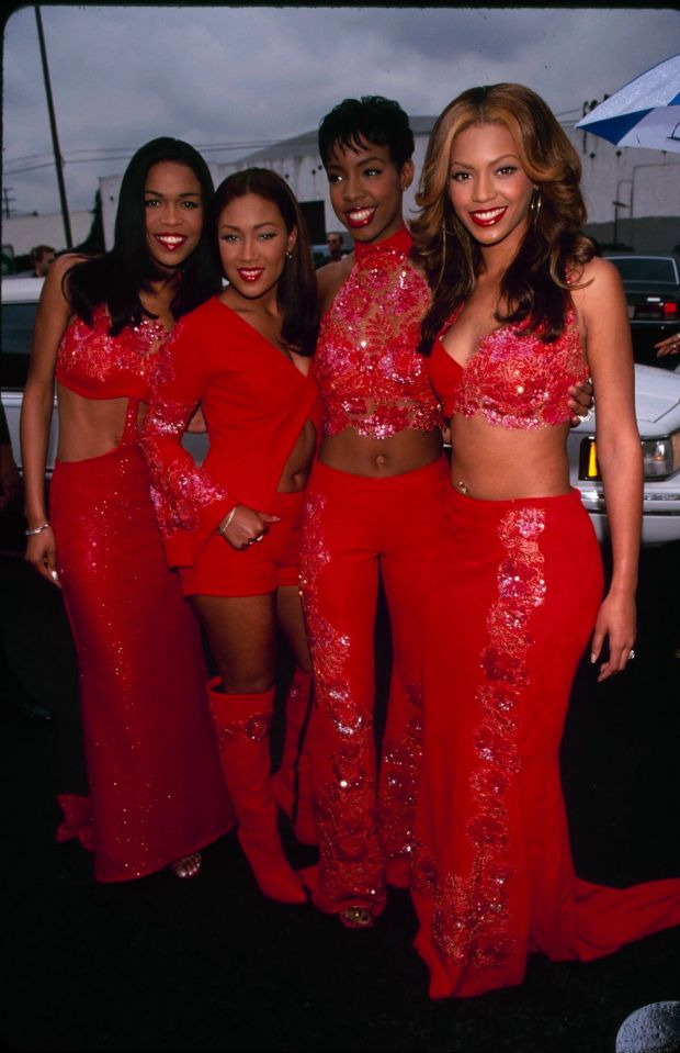 Michelle Williams, Farrah Franklin, Kelly Rowland and Beyoncé Knowles at the 14th annual Soul Train Music Awards.