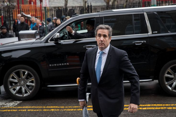 Michael Cohen,a longtime personal lawyer and confidante for President Donald Trump, arrives at the United States Distri
