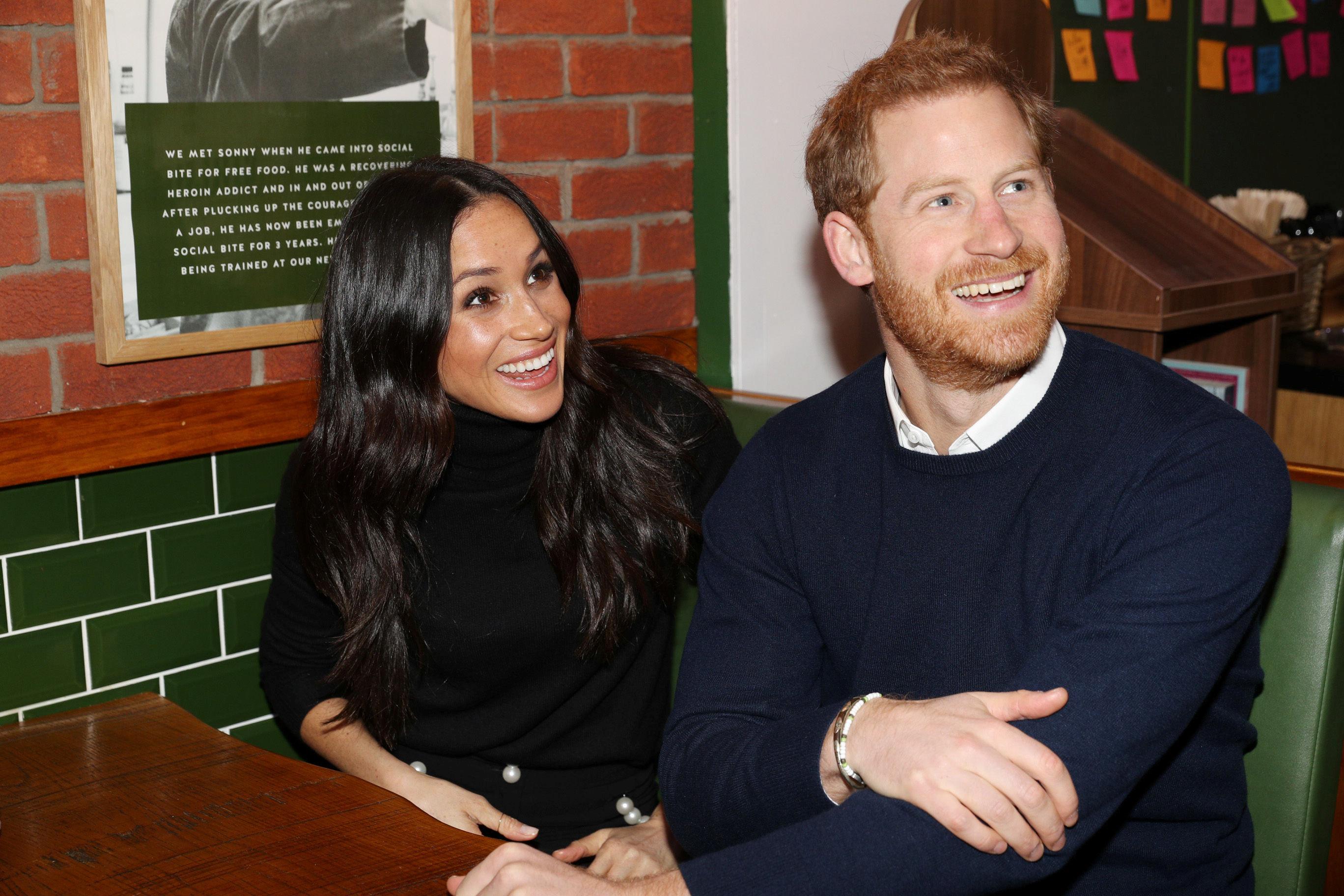 Meghan Markle and Prince Harry in Edinburgh on Feb. 13.