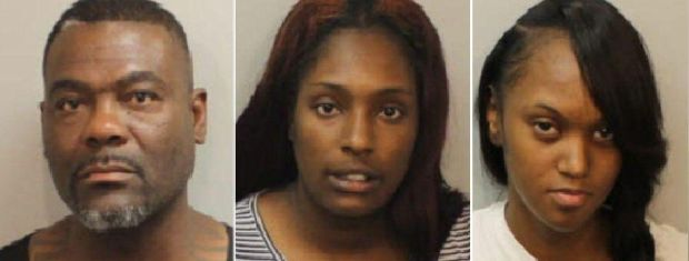 Coby Richardson, Quinessia Jackson and Jaresa Frye have all been charged with felony theft.
