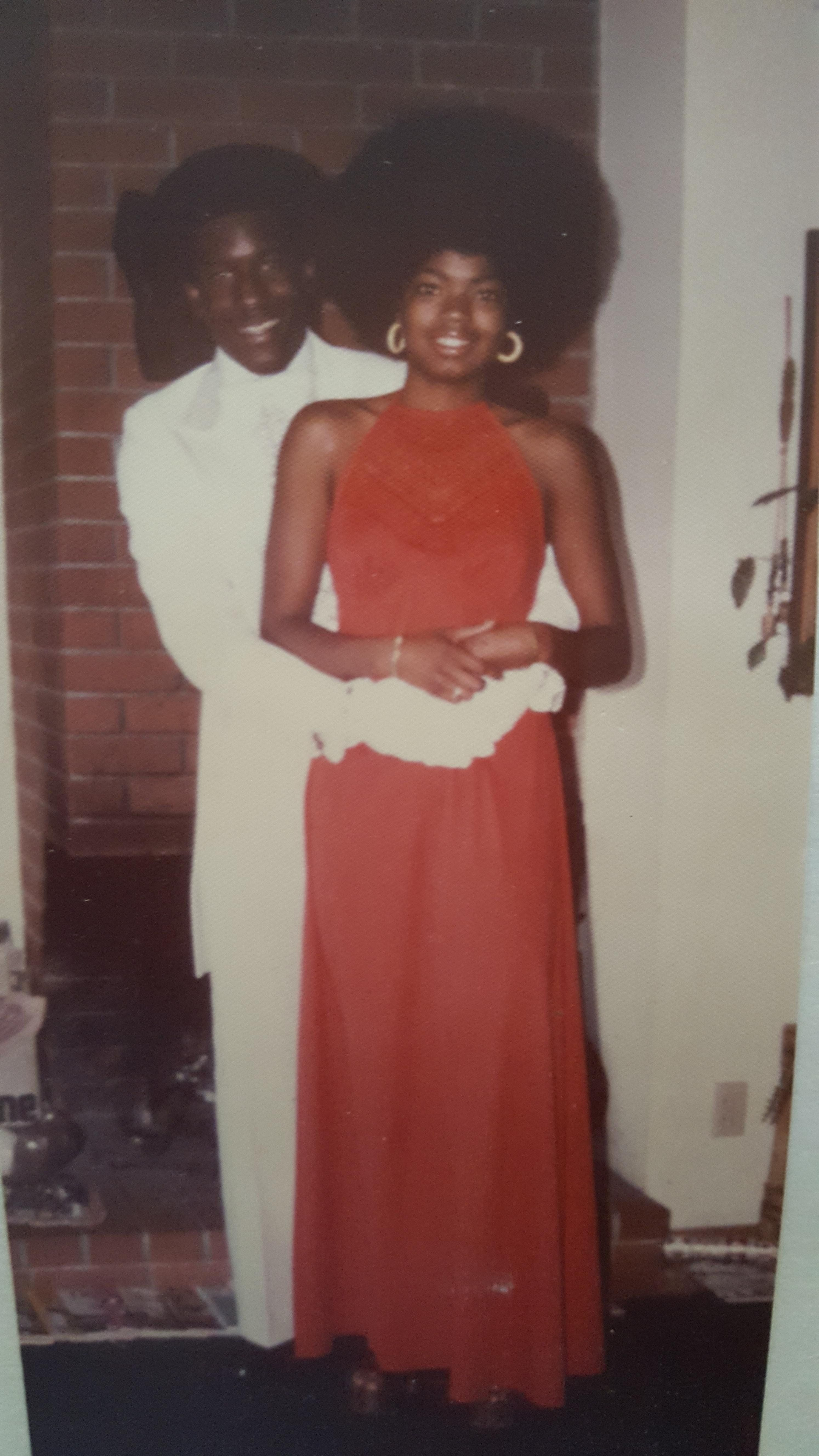 """""""The picture was taken in 1976 before my momSheila'sprom, and I love her radiant smile and, of course, her amazin"""