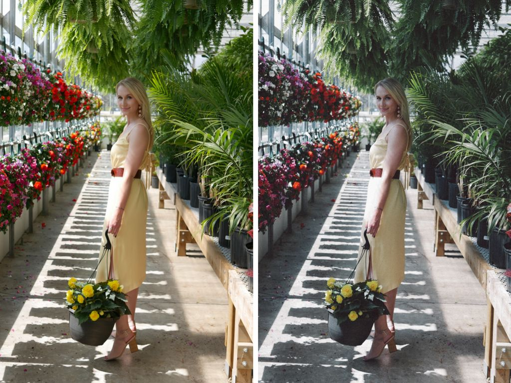 On the left is Weldon's original photo, and on the right is her photo editedto be much darker, which she dislikes.