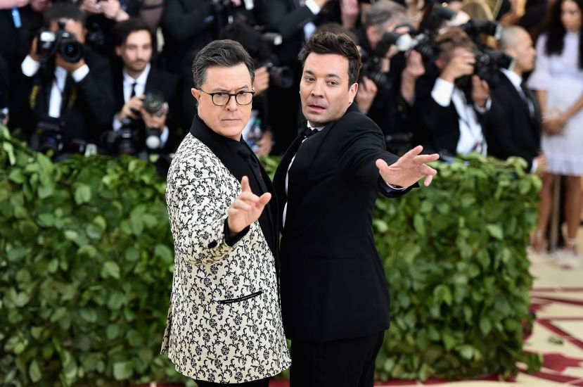 Stephen Colbert and Jimmy Fallon