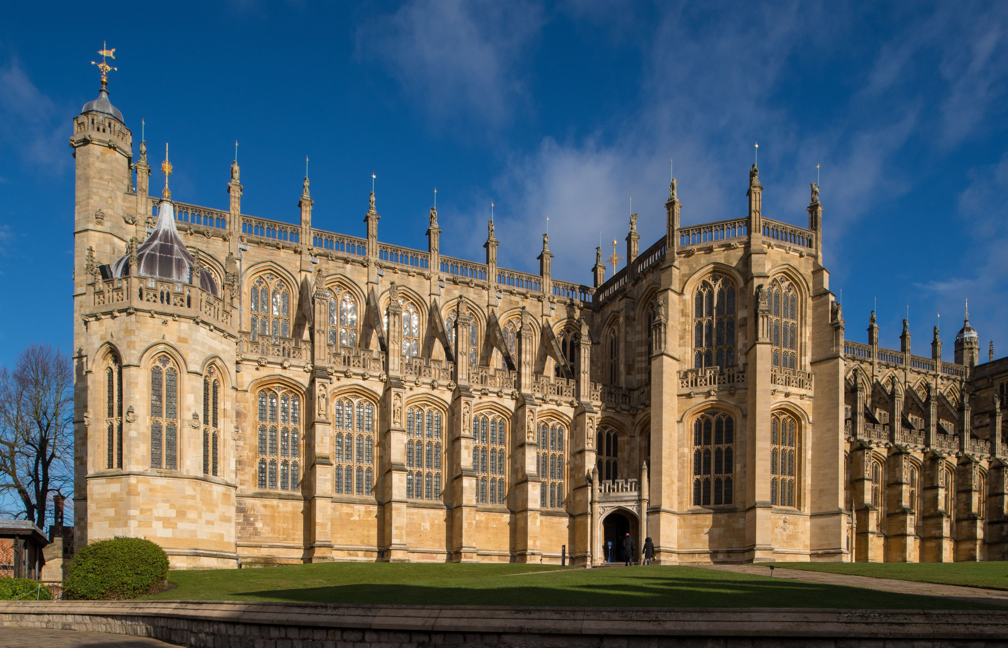 The outside of St. George's Chapel at Windsor Castle.