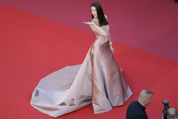 """Wearing Dior Couture for the screening of the film """"Ash is Purest White (Jiang hu er nv)"""" on May 11."""