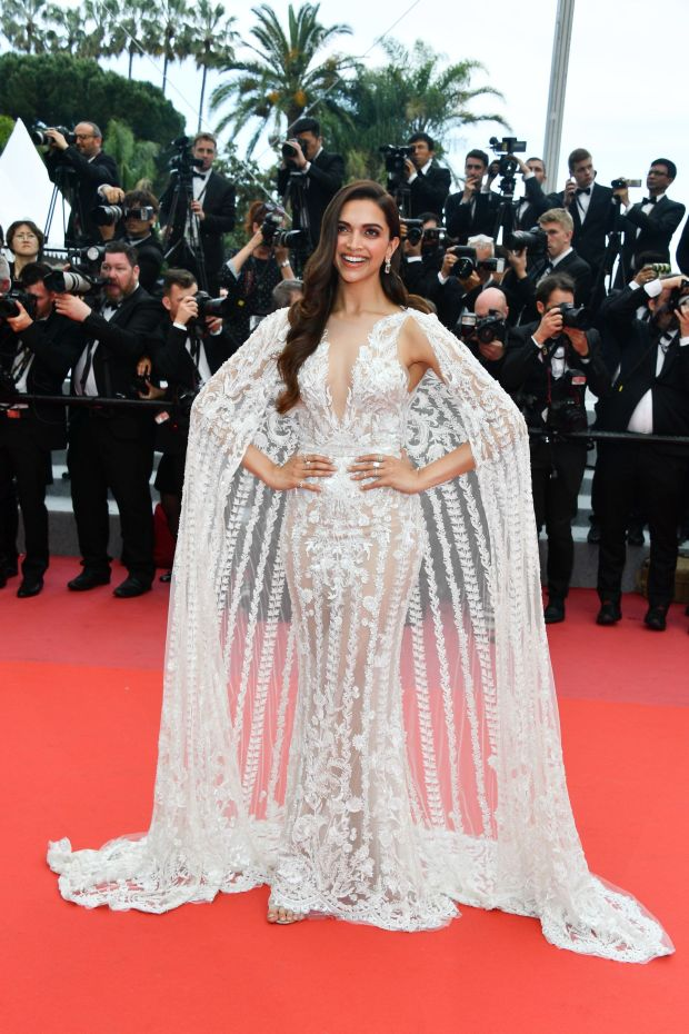 """In Zuhair Murad at the screening of """"Sorry Angel (Plaire, Aimer Et Courir Vite)"""" on May 10."""