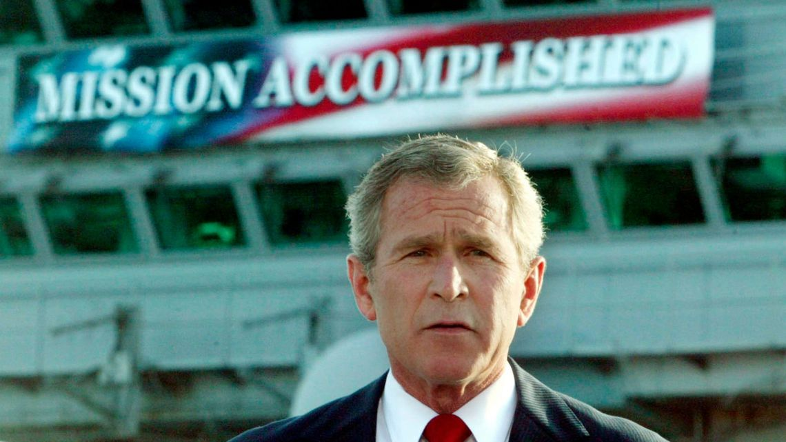 Bush's infamous 'Mission Accomplished' speech in 2003.