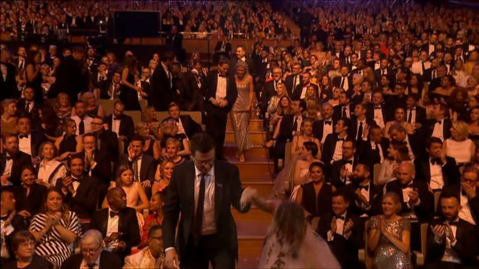 Caroline Flack did a Jennifer Lawrence at the TV BAFTAs
