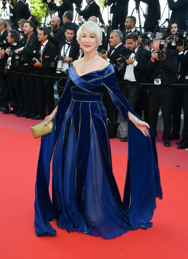 """Wearing Elie Saab couture at the screening of """"Girls Of The Sun (Les Filles Du Soleil)"""" on May 12."""