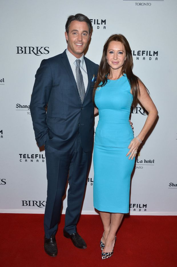 With husband Ben Mulroney at the Telefilm/Birks/Shangri-La Hosted Champagne Rendezvous for Canadian Women in Film at Shangri-