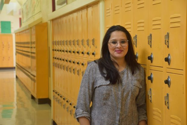 Tatiana Chaterji, the restorative justice facilitator at Fremont High School in the Oakland Unified School District.