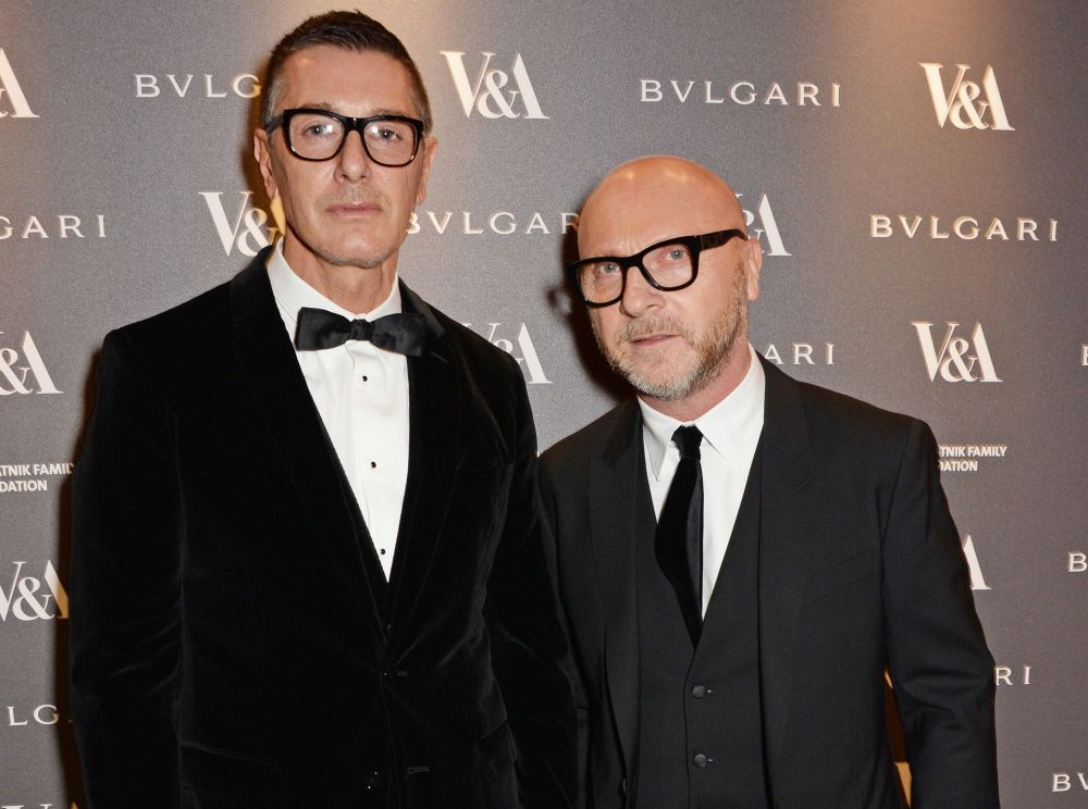 Stefano Gabbana (L) and Domenico Dolce pictured together in 2014.