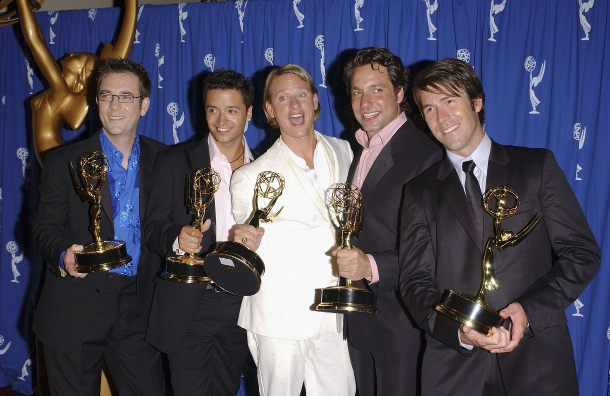 L'OG Fab Five en 2004, avec son programme Emmys for Outstanding Structured Reality.