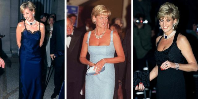 Some of Diana's most glamorous post-Charles looks.