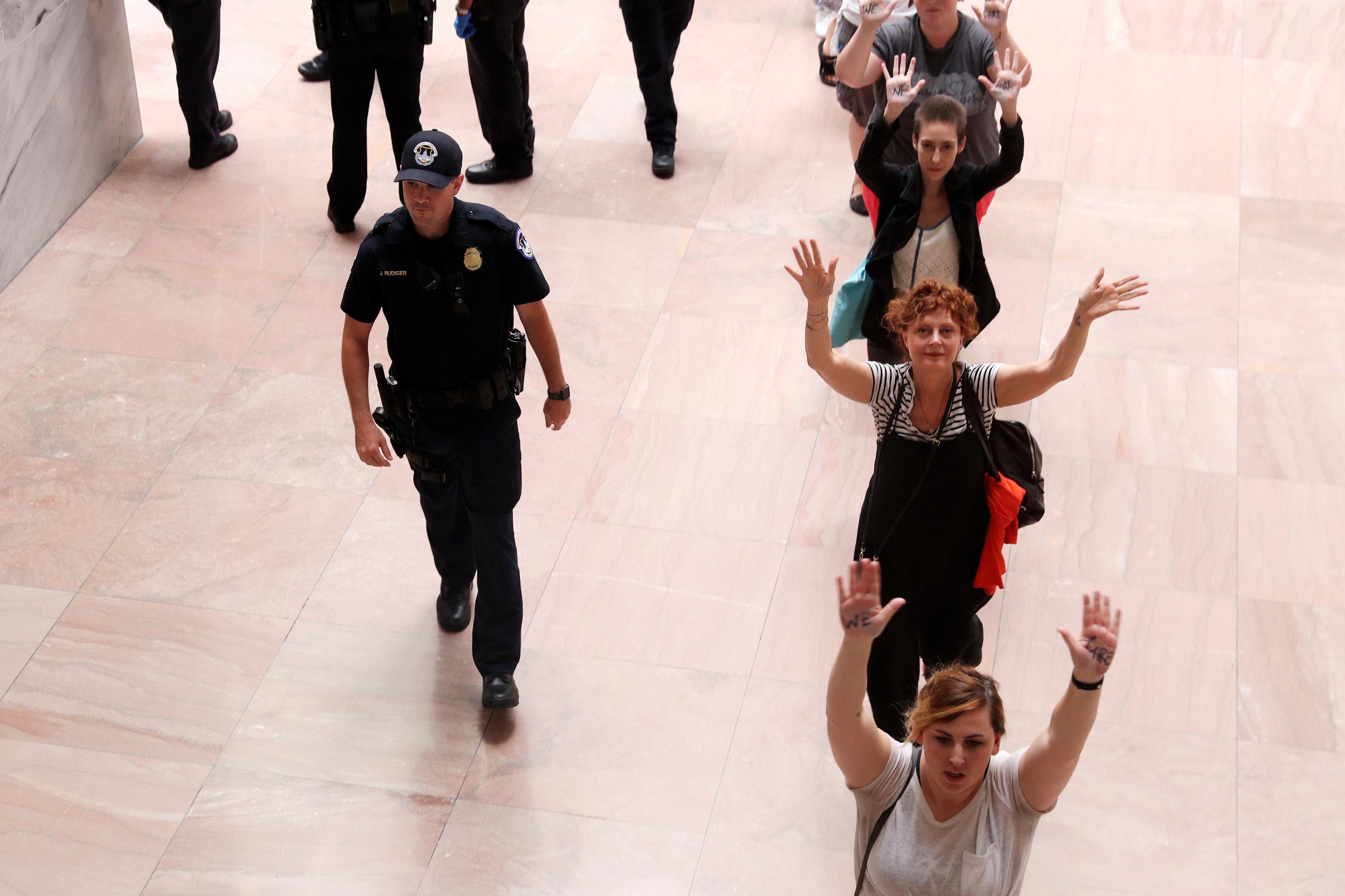Susan Sarandon Arrested Protesting Trump's Immigration ...