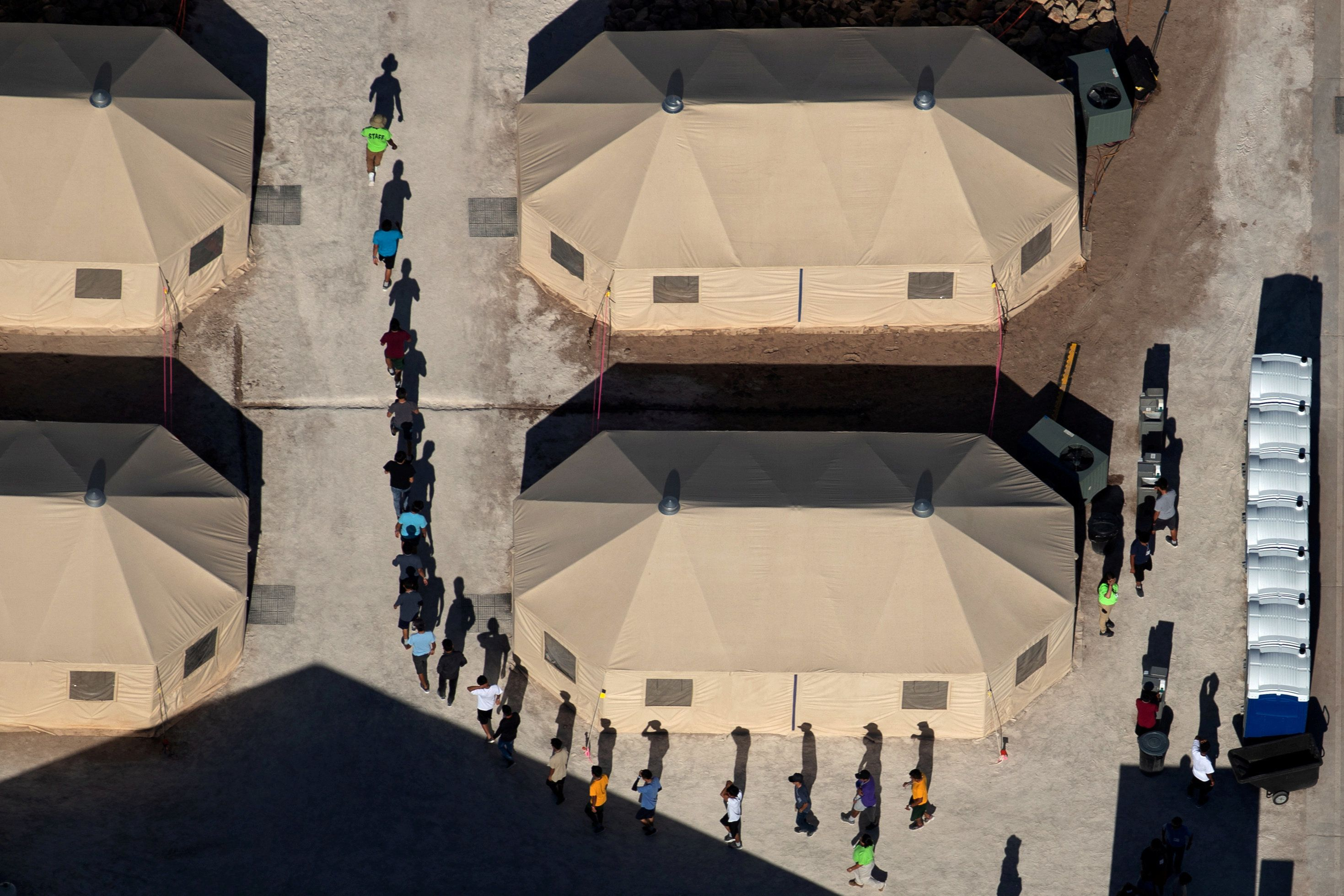Immigrant children at a detention facility in Tornillo, Texas, near the U.S.-Mexico border, June 18. Thousands of children ha