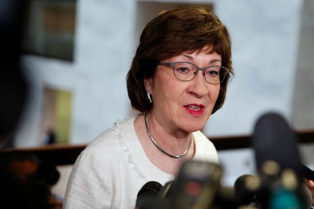 """Sen. Susan Collins (R-Maine) said Tuesday that health care is """"very important to me"""" in considering Brett Kavanau"""
