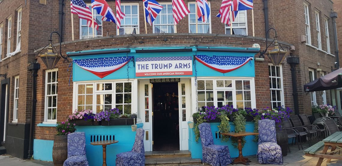 The Jameson pub in Hammersmith is rebranding as The Trump Arms for the American President's visit