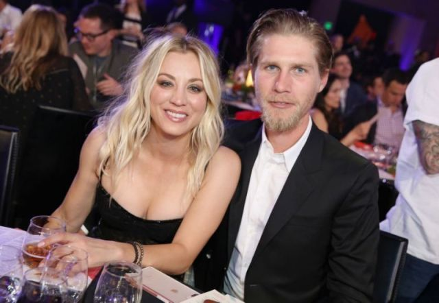 Kaley Cuoco and Karl Cook attend Seth Rogen's Hilarity for Charity event on March 24, 2018, in L.A.