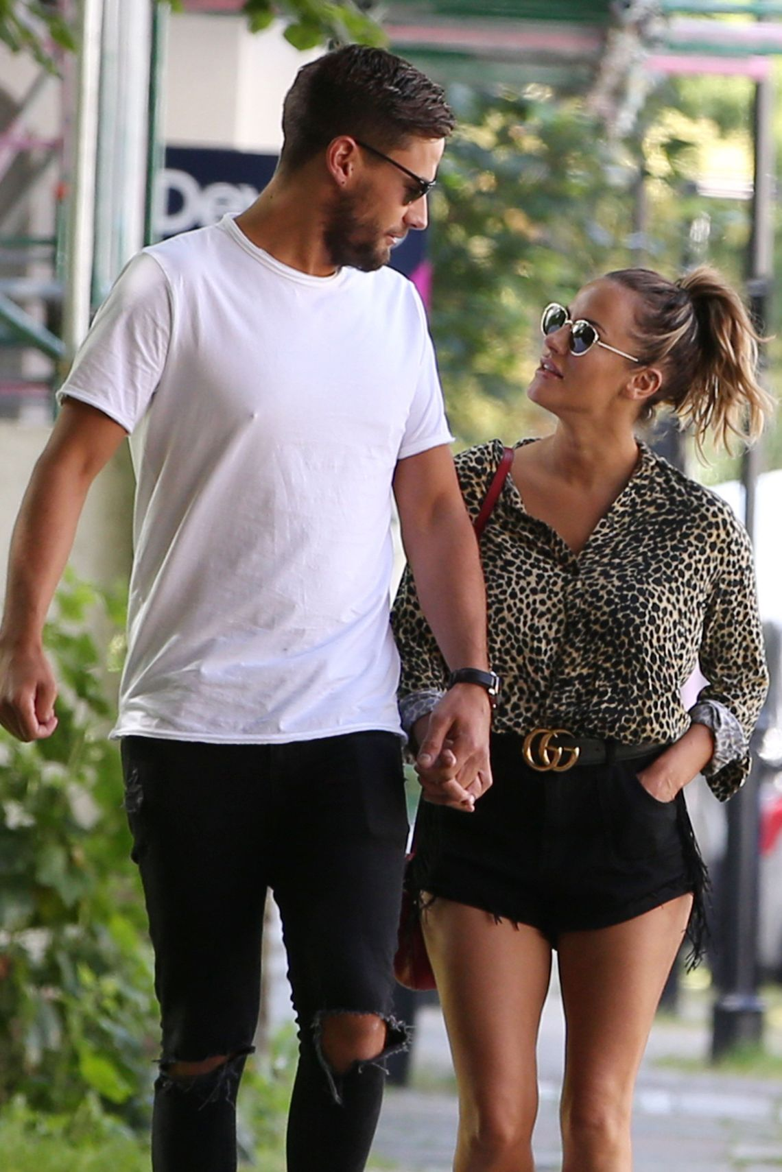 Andrew Brady and Caroline Flack, a month before their split