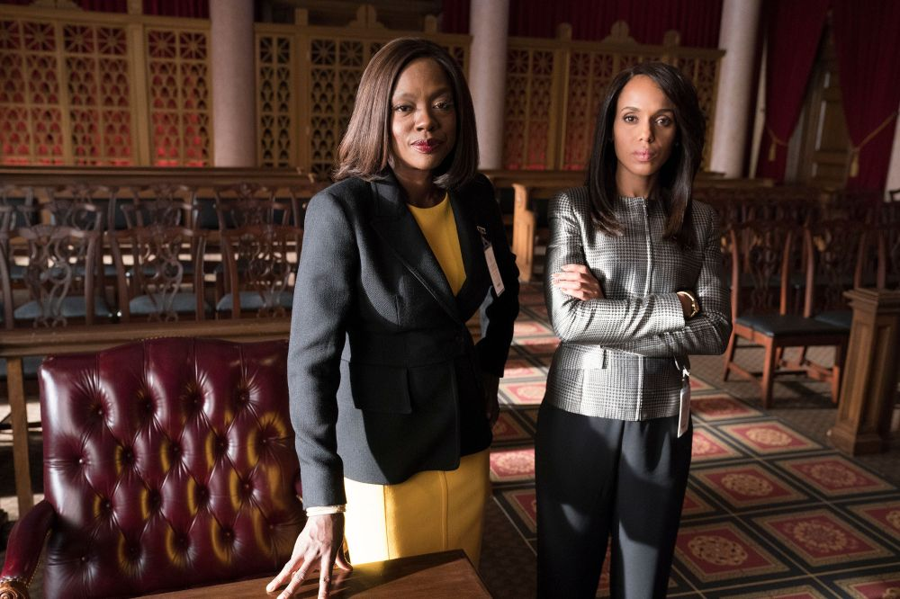 """Viola Davis and Kerry Washington in the """"Scandal"""" and """"How to Get Away with Murder"""" crossover episode."""