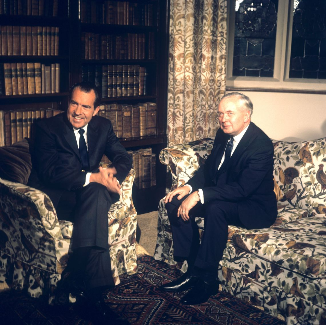 President Nixon meets Prime Minister Harold Wilson at Chequers, 1970.