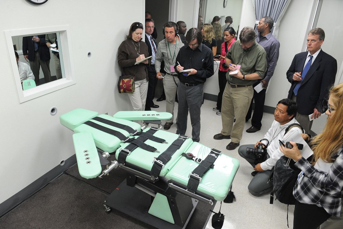 A lethal injection chamber in the US.