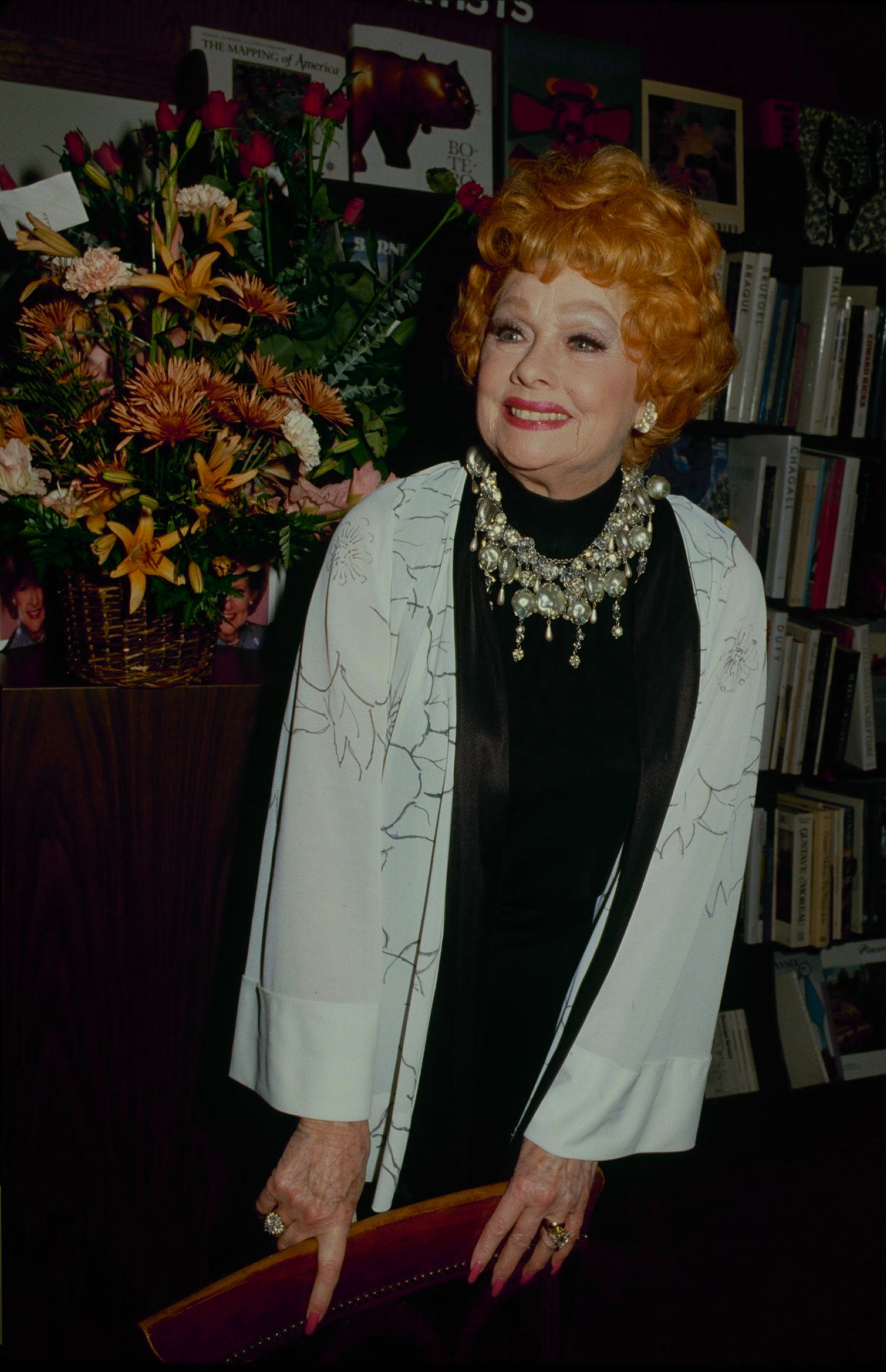 Ball at a book signing event for Betty White's&nbsp;<i>Betty White In Person.</i>
