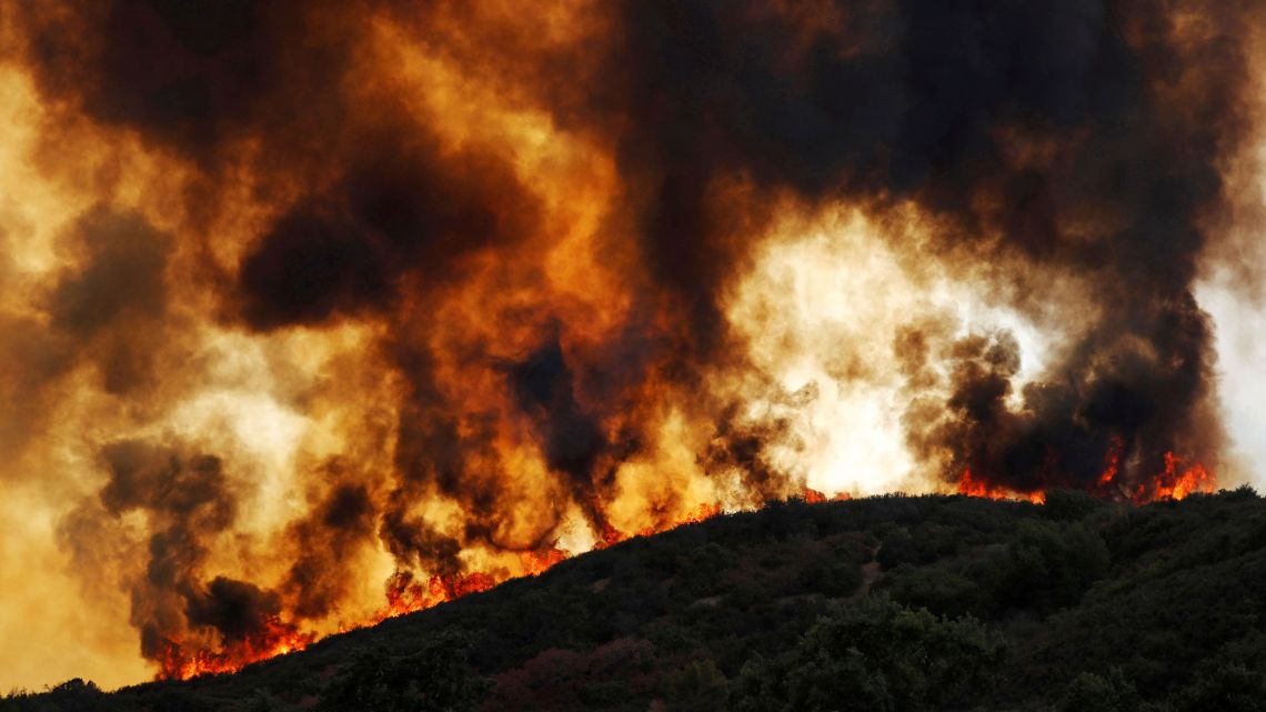 Two California Wildfires Have Merged To Form The Biggest Blaze In State History