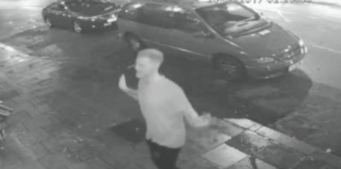 CCTV footage of Stokes outside Mbargo nightclub