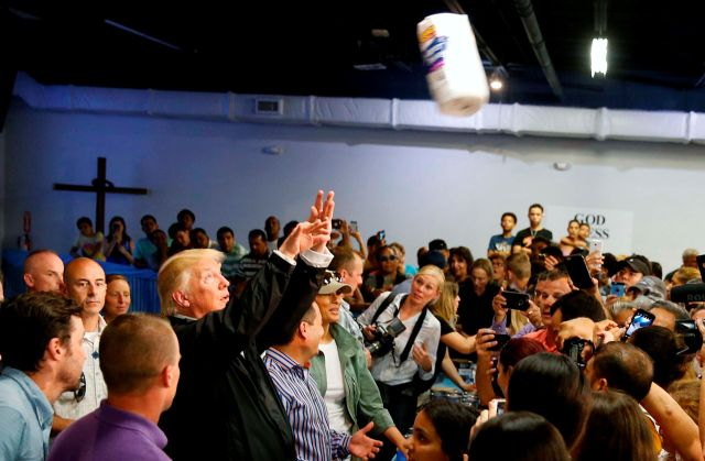 President Donald Trump cavalierly tossed paper towels to a crowd last October during a visit to Puerto Rico, which had suffer